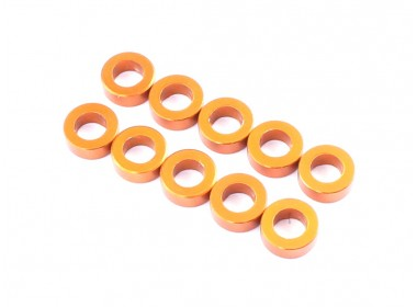 3x5.5x1.0mm Aluminum Spacer (Orange), 10 pcs (D10095)