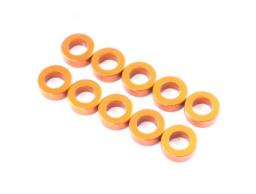3x5.5x2.5mm Aluminum Spacer (Orange), 10 pcs (D10097)